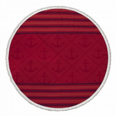 Anchor Round Turkish Beach Towel