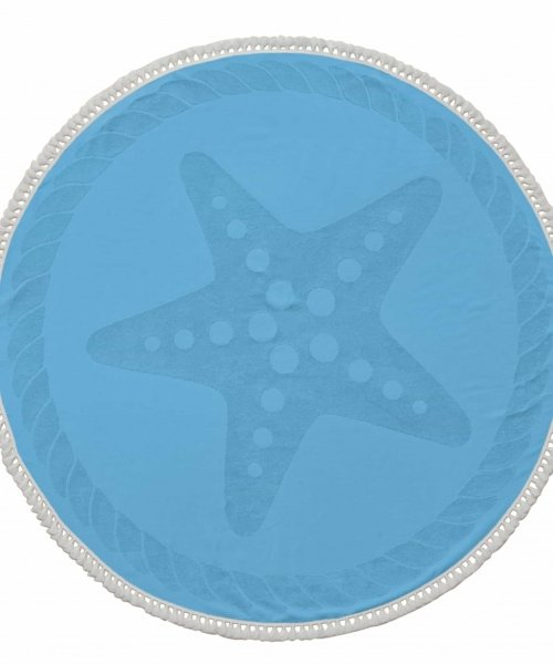 Starfish Round Cotton Turkish Beach Towel