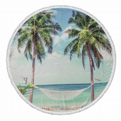Summer Round Cotton Turkish Beach Towel