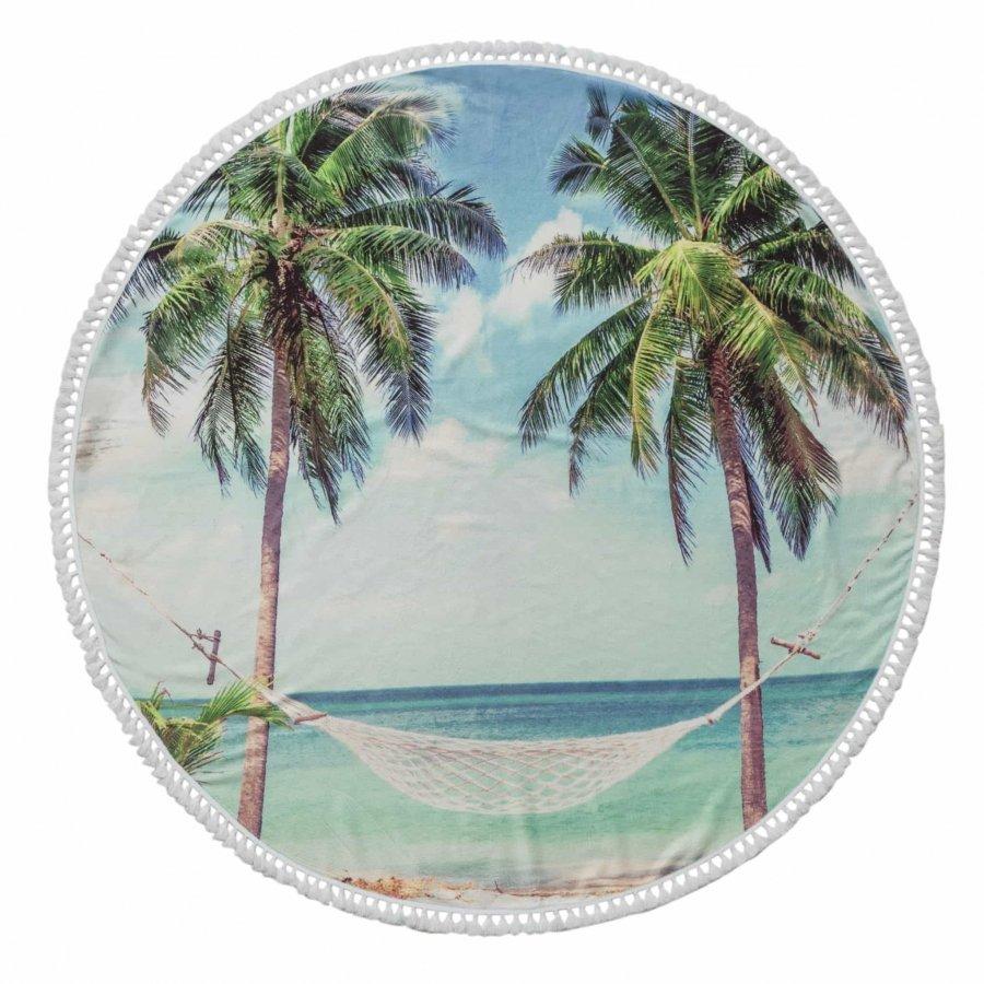 Summer Round Cotton Turkish Beach Towel