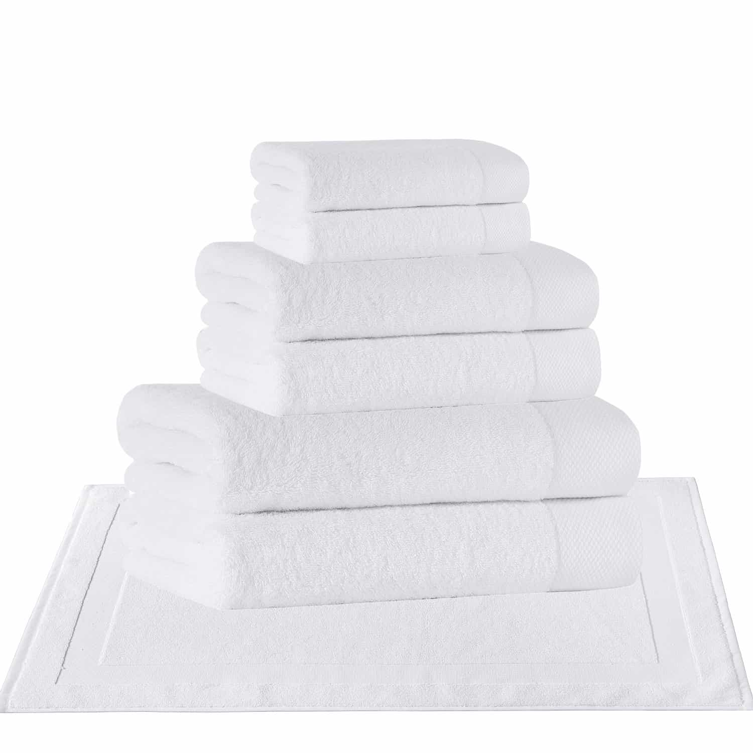 8 pcs Set ( 2 Bath, 2 Hand, 2 Wash, 2 Mat)