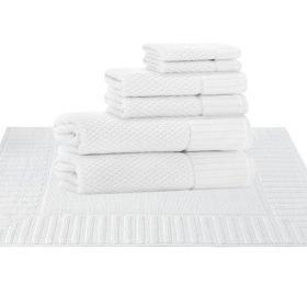 8 pcs Set ( 2 Bath, 2 Hand, 2 Wash, 2 Mat)