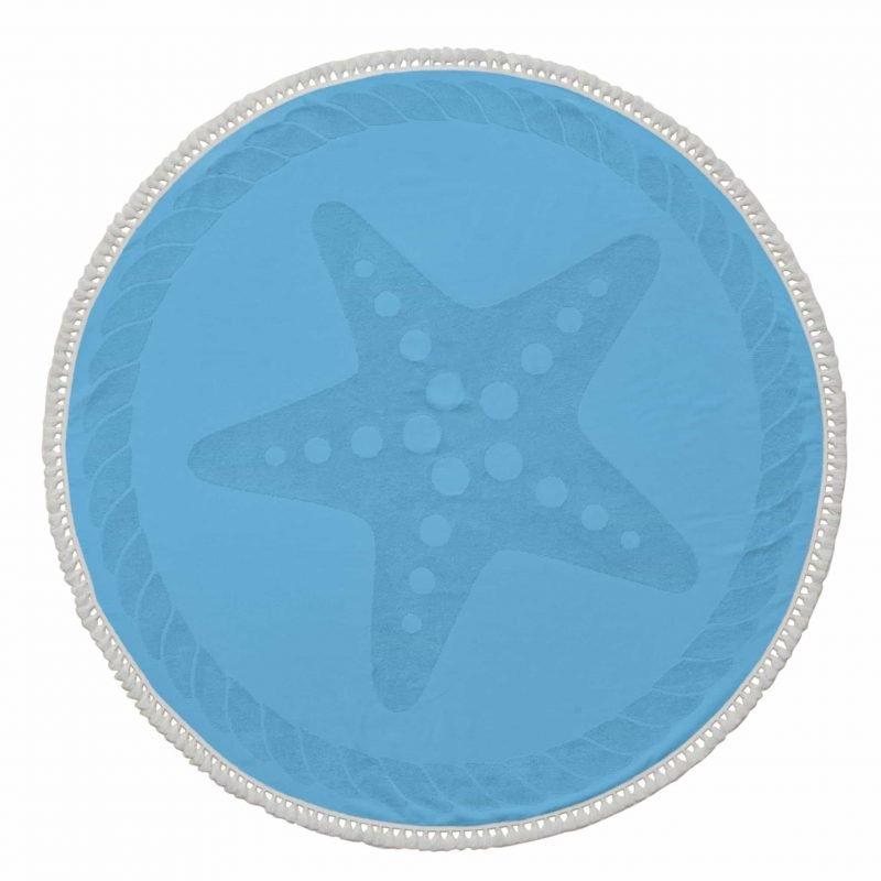 Starfish-round-beach-towel
