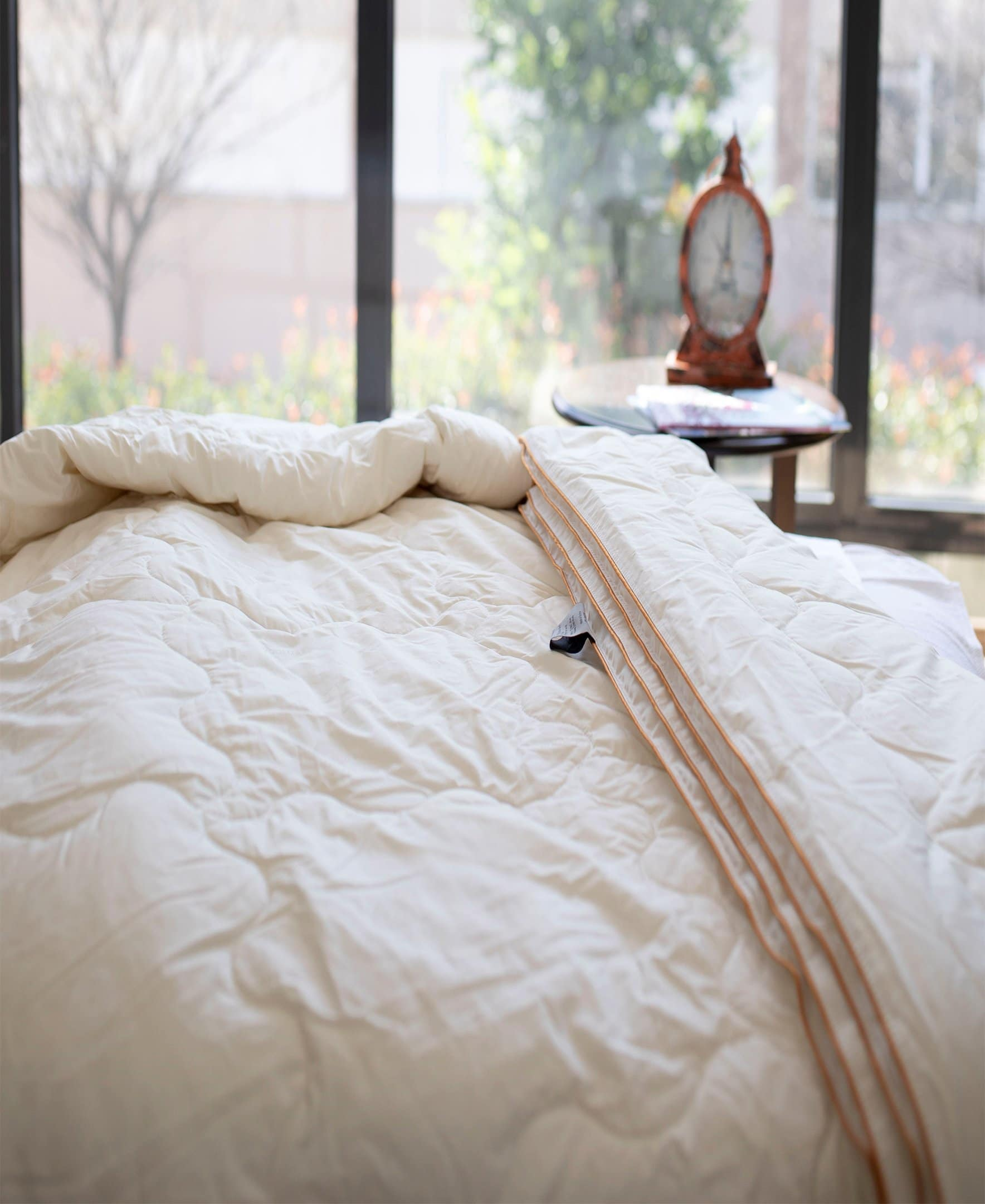 ELEGANT GOLD Merino Wool DUVET Pure QUILT Natural ALL SIZES  IDEAL GIFT 450gsm