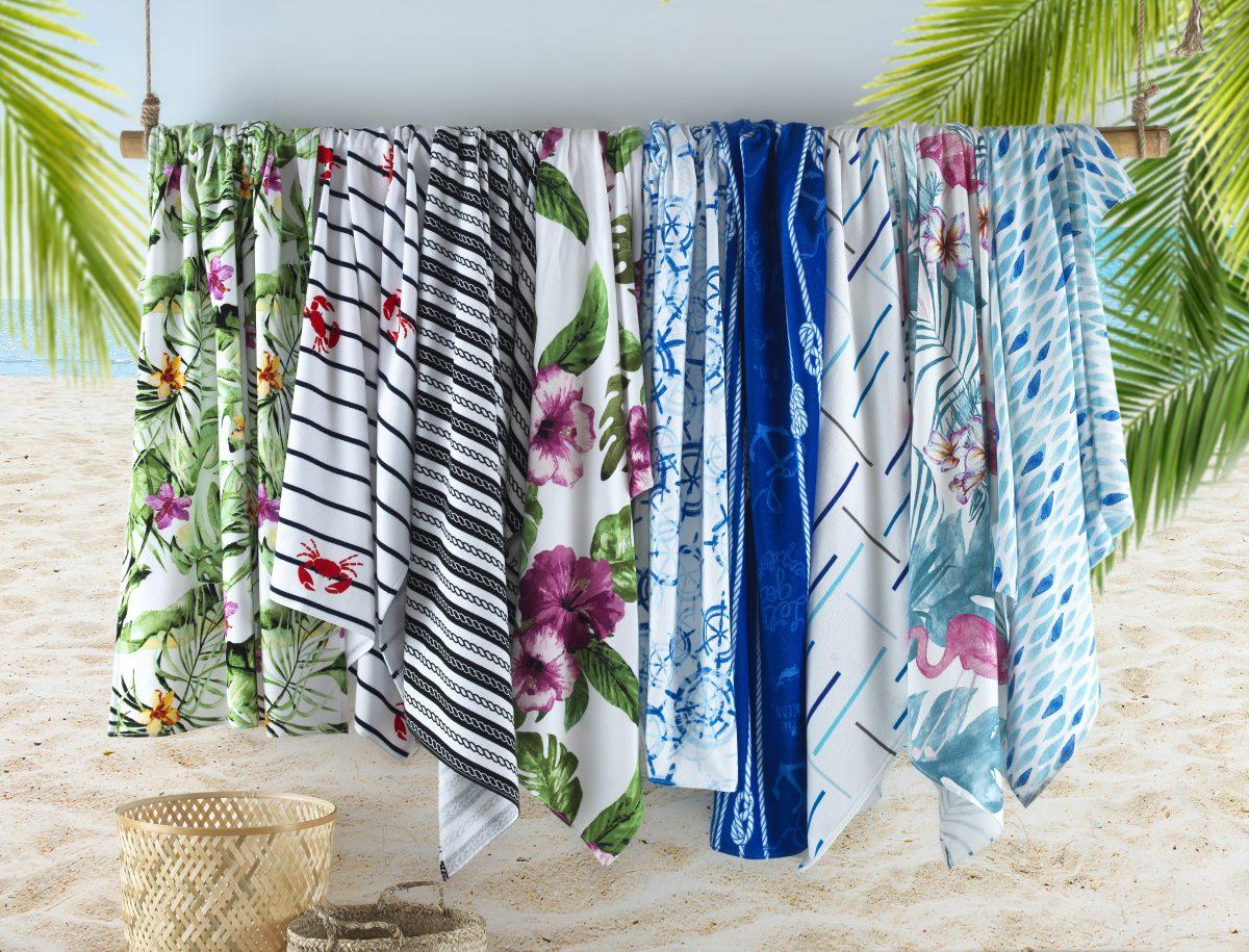 Navy Stripe Turkish Cotton Beach Towels
