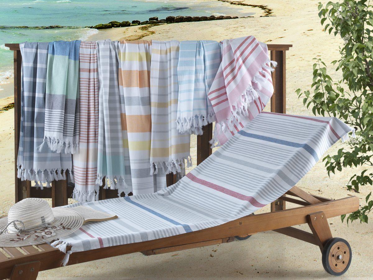 Hamptons Turkish Cotton Peshtemal Beach Towels
